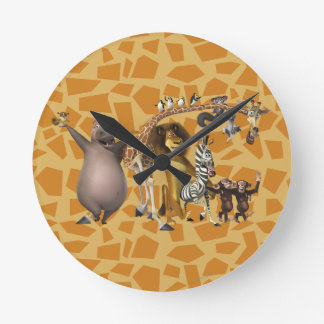 Amigos de Madagascar Relógios De Paredes