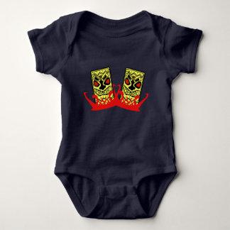 Amigos do bodysuit-Tiki do jérsei do bebê Body Para Bebê