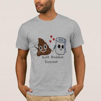 amigos do bumbum do papel higiénico do emoji do camiseta