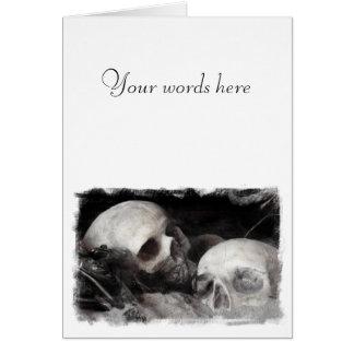 Amigos do crânio cartões