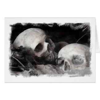Amigos do crânio cartão
