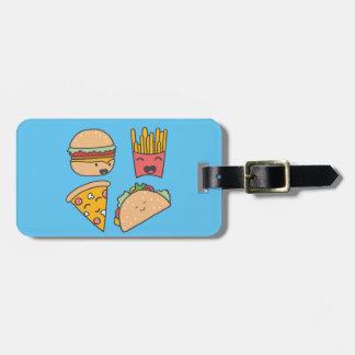 amigos do fast food tag de bagagem