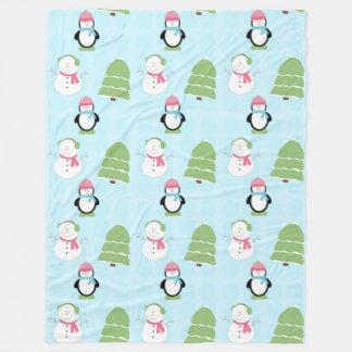 Amigos do inverno cobertor de lã