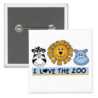 Amigos do jardim zoológico bóton quadrado 5.08cm