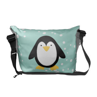 Amigos do pinguim bolsas mensageiro
