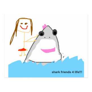 amigos do tubarão cartão postal