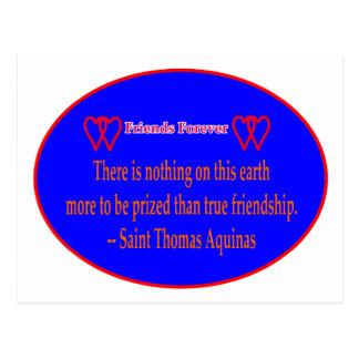 Amigos para sempre santo branco azul Thomas A de 2 Cartao Postal