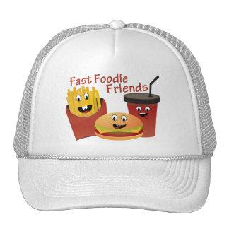Amigos rápidos de sorriso de Foodie Boné