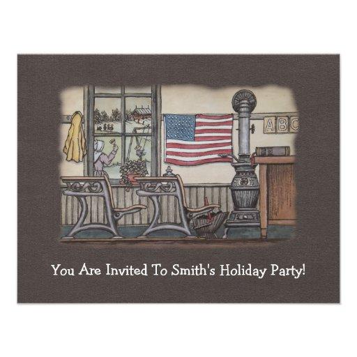 Amish uma sala da escola da sala convite