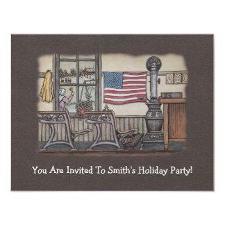 Amish uma sala da escola da sala convite 10.79 x 13.97cm