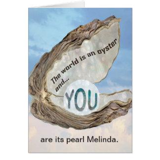 Amizade, amor, obrigados, você é o cartão da