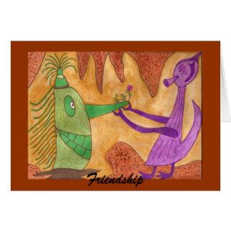 Amizade - autismo cartão comemorativo