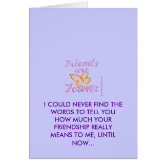 Amizade Cartao