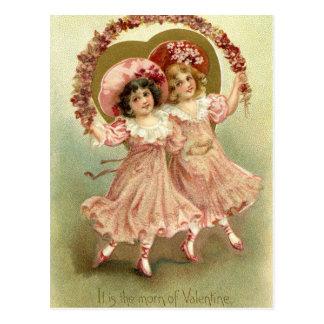 Amizade cor-de-rosa do dia dos namorados do cartão postal