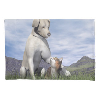 Amizade do cão e gato