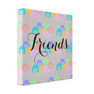 """Amizade dos """"amigos"""", cópia das canvas"""