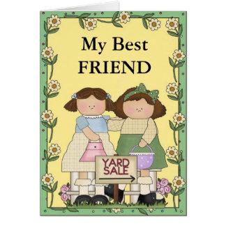Amizade e vendas de jardim cartão comemorativo