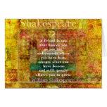 AMIZADE inspirada das citações de William Shakespe Cartão Comemorativo