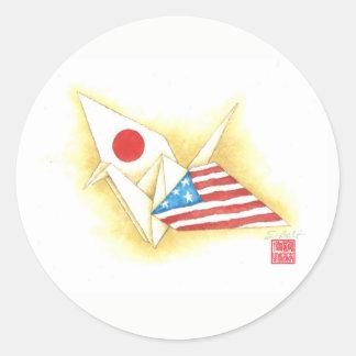 Amizade Japão-EUA do ~ das etiquetas