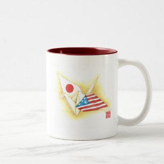 Amizade Japão-EUA do ~ do tom da caneca de café
