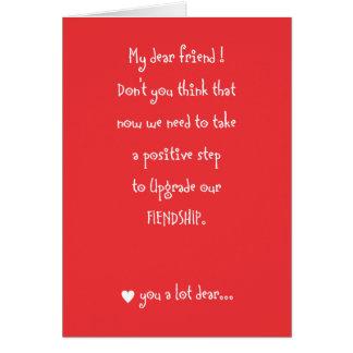 Amizade para amar o cartão