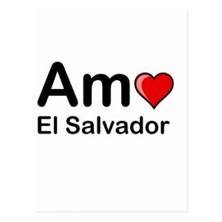 Amo El Salvador Cartão Postal
