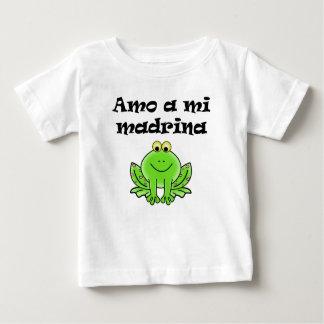 Amo um MI Madrina Camiseta Para Bebê