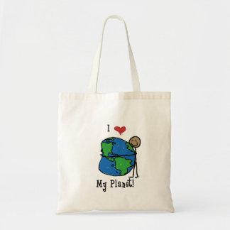 Amor 2 do planeta bolsa tote