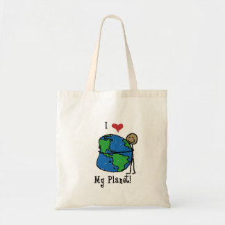 Amor 2 do planeta sacola tote budget