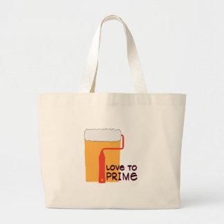 Amor à prima bolsas de lona