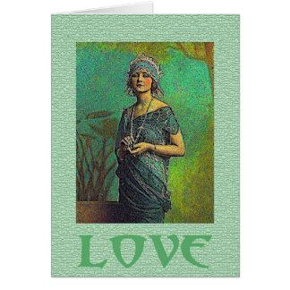Amor ajustado ao cartão da música
