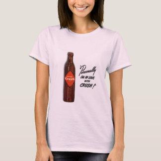 Amor alaranjado do esmagamento camiseta