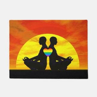 Amor alegre da ioga - 3D rendem Tapete