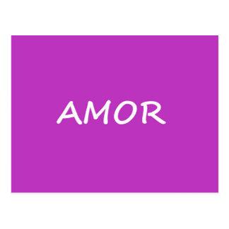 Amor, amor espanhol cartão postal