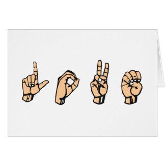 AMOR, AMOR - linguagem gestual Cartao