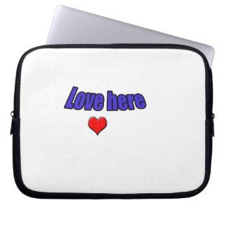Amor aqui capas para computadores