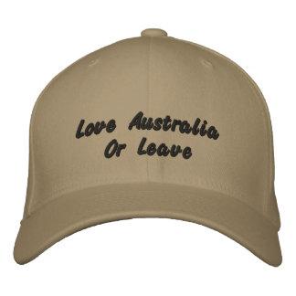 Amor Austrália ou licença, boné de beisebol do