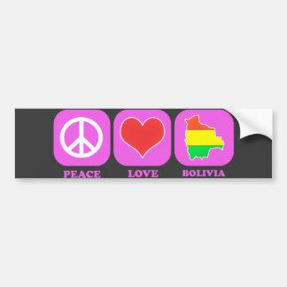 Amor Bolívia da paz Adesivo Para Carro