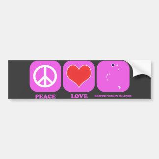 Amor British Virgin Islands da paz Adesivo Para Carro