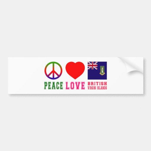 Amor British Virgin Islands da paz Adesivo