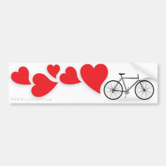 Amor Bumpersticker da bicicleta Adesivo