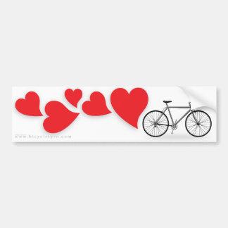 Amor Bumpersticker da bicicleta Adesivo Para Carro