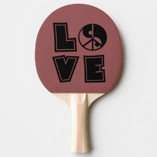 Amor calmo raquete de ping pong