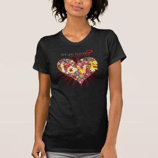 Amor - camisa doce de Captcha dos amantes