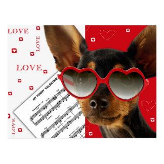 Amor. Cartão do dia dos namorados do divertimento