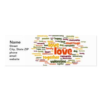 Amor Cartões De Visitas