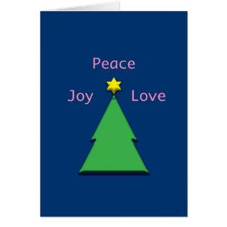 Amor Chrismukkah inter-religioso da alegria da paz Cartão Comemorativo