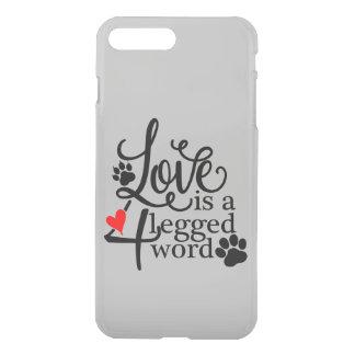 Amor com 4 pés capa iPhone 8 plus/7 plus