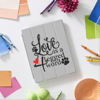Amor com 4 pés capa smart para iPad