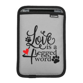 Amor com 4 pés luva de iPad mini